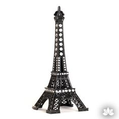 Black Eiffel Tower Cake Topper paris themed cake decoration. Perfect for cake decorating girl's fondant cakes. | CaljavaOnline.com #caljava #caketopper