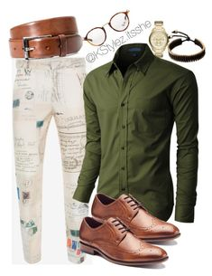 """""""Happy Tuesday"""" by keierica-washington on Polyvore featuring Alexander McQueen, Armani Exchange, LE3NO, Vitaly, Apt. 9, BOSS Hugo Boss, Ray-Ban, men's fashion and menswear"""