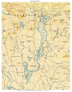 Map Of Maine Lakes.14 Best Maine Lakes Old Topo Maps Custom Reprints Images Lakes