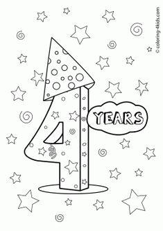 Color the Happy Birthday Cake | School | Pinterest ...