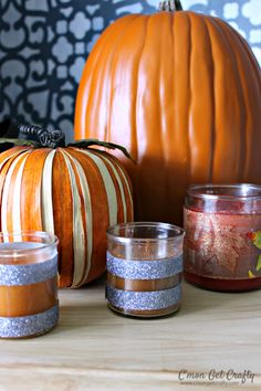 Simple Candle Decorations for Autumn - C'mon Get Crafty #LoveAmericanHome AD