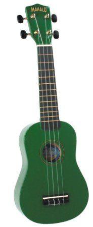 Amazon.com: Mahalo U-30GN Painted Economy Soprano Ukulele (Green): Musical Instruments