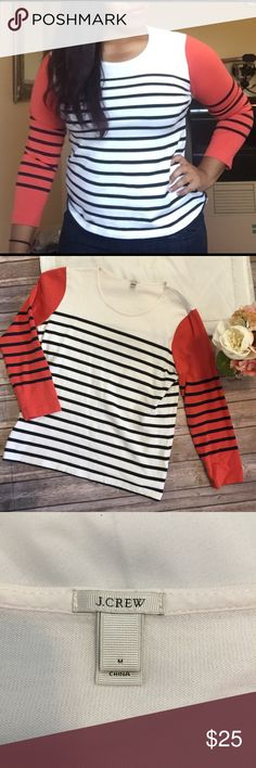 "J. Crew | Colorblock Striped Top Size M Excellent used condition! No flaws or imperfections. Approximate measurements- chest: 18""   Length: 22""   Arm length: 19.5"" J. Crew Tops"