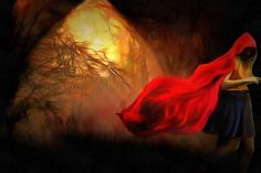 Little Red Riding Hood in the Woods by Caterina Christakos