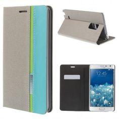 Funda Book Samsung Galaxy Note Edge Contrast Stand Gris