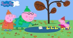 Peppa Pig and her family spending time at the park. Oink oink!