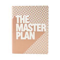 Nuuna notitieboek The master plan koper #nuuna #2015 #copper #koper #notitieboek #notebook #german #screenprint #leather