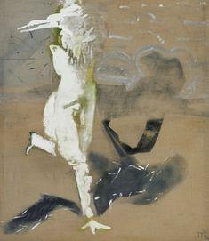 Teresa Pągowska, CIEŃ - Found on tessart. Agra, Art Blog, Tempera, Moose Art, Auction, Landscape, Abstract, Animals, Bay Area