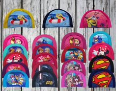 Kids-Children-Child-Soft-Fabric-Swimming-Hat-Disney-Swim-cap-Paw-Patrol  Use these Character Licensed Swim Caps for Kids on your next trip to the beach or in the pool. Unlike rubber caps that can pull your child's hair, these swimming caps are very soft, comfortable and easy to put on and pull off. We offer a large selection of swimming hats with characters such as Masha and the bear, Finding Dory, Minions, Disney Frozen, Disney Minnie, Paw Patrol, Superman and more. Swimming Accessories, Masha And The Bear, Kids Tv Shows, Swim Caps, Frozen Disney, Finding Dory, Child And Child, Kids Swimming, Paw Patrol