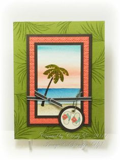 Tropical Sunset by Cards4Ever - Cards and Paper Crafts at Splitcoaststampers