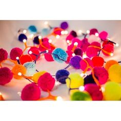pompom fairy lights