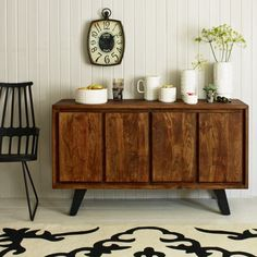 Acacia wood sideboard  Gaham & Green