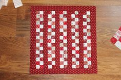 Nice scrappy doll quilt