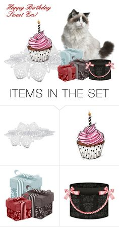"""""""Happy Birthday"""" by sjlew ❤ liked on Polyvore featuring art"""