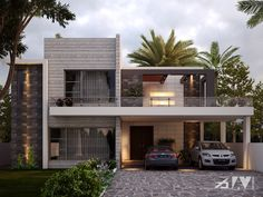 For similar look of bunglow Modern Exterior House Designs, Best Modern House Design, Latest House Designs, Modern Architecture House, House Outer Design, House Outside Design, House Front Design, Village House Design, Kerala House Design