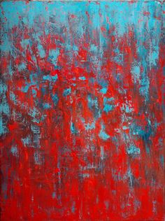 Buy Red & Blue, an Oil Painting on Canvas, by Michelle Carrier from United State. Blue Painting, Oil Painting Abstract, Acrylic Painting Canvas, Canvas Art, Buy Canvas, Canvas Size, Contemporary Abstract Art, Blue Art, Saatchi Art