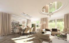 Projekt wnętrz przestronnej willi w luksusowym stylu - Tissu