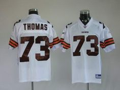 Cleveland Browns 73 Joe Thomas White Stitching NFL Jersey