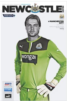 Newcastle v Manchester City match programme front cover 12/1/14 #mcfc #manchester #city