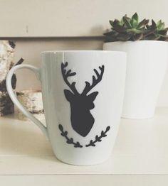 Deer Painted Coffee Mug