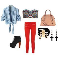 colourrr, created by rachelmary-elizabeth on Polyvore fashion fashion jefferey campbell michael kors