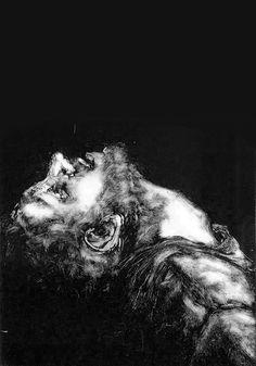 Monotype print by Picnic Pipes. Portrait Acrylic, Etching Prints, Expressive Art, Horror Art, Heart Art, Printmaking, Art Photography, Illustration Art, Dark Ink