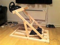 Image result for diy steering wheel stand
