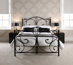 Inspired by the retrospective trend in metal beds for more traditional designs, the Florence is beautifully sculpted with crystal finials.
