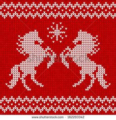 sweater pattern with horses seamless pattern Sweater Knitting Patterns, Knitting Charts, Easy Crochet Patterns, Stitch Patterns, Cross Stitch Horse, Cross Stitch Charts, Ornaments Image, Crochet Horse, Swedish Embroidery