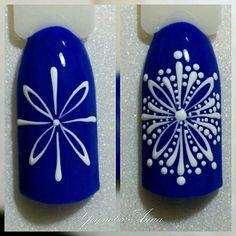 @pelikh_Дизайн ногтей тут! ♥Фото ♥Видео ♥Уроки маникюра #nailart Winter Nail Designs, Christmas Nail Art Designs, Holiday Nail Art, Winter Nail Art, Winter Nails, Autumn Nails, Gel Nail Art, Acrylic Nails, Shellac Nails