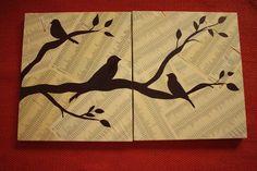 My 100th post! Bird wall art - Tutorial | Simz Corner