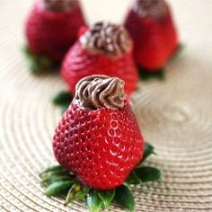 chocolate covered strawberries are the best....chocolate FILLED strawberries must be even better!