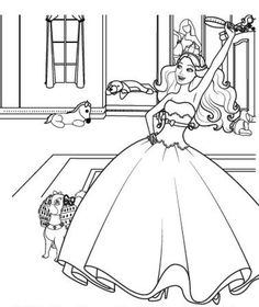 coloring page Barbie The Princess and the Popstar - Barbi en de popster