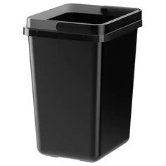 IKEA - VARIERA, Recycling bin, Folding handle makes it easy to carry, and keeps the trash bag in place.Rounded corners for easy cleaning.