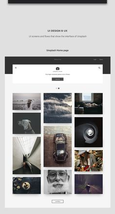 Unsplash is the one the best free image resource websites. I have used Unsplash's images in almost every project and I am very grateful for what it provides. After some thought, I found a way to repay the credit back by making a redesign concept. A more m…