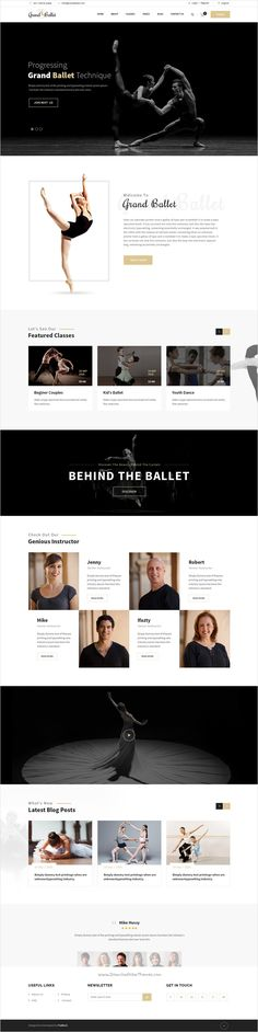 Grand Ballet is a creative #PSD Template for #ballet #dance academy website with 2 homepage layouts and 15 organized PSD pages download now➩ https://themeforest.net/item/grand-ballet-creative-ballet-psd-template/18402295?ref=Datasata