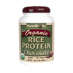 watch 77840 073f6 Organic Rice Protein, Chocolate 22.9 oz. This is one chocolate protein  powder that does