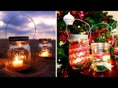 An easy way to make candlelit lanterns, and decorate them for a holiday gift!  TODAY'S BLOG POST: http://www.amarixe.com/2012/11/diy-mason-jar-lanterns-holiday-gift-idea.html  Fresh, Natural Makeup: An Easy Everyday Tutorial! http://www.youtube.com/watch?v=_-EpEygE0V8    My Second Channel: http://www.youtube.com/AllisonVlogs  Blog: http://www.amarixe...