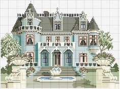 Schema punto croce Villa