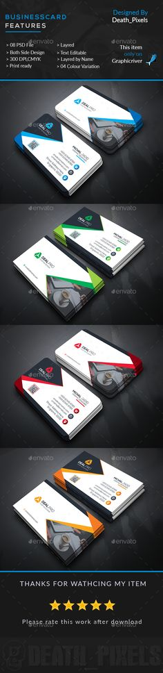 Corporate Business Card Template PSD. Download here: http://graphicriver.net/item/corporate-business-card/15870747?ref=ksioks