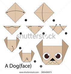 crianças step by step instructions how to make origami dog. step by step instructions how to make origami dog. Origami Design, Origami Ball, Instruções Origami, Origami Paper Folding, Origami Star Box, Origami Dragon, Origami Fish, Origami Bookmark, Origami Butterfly