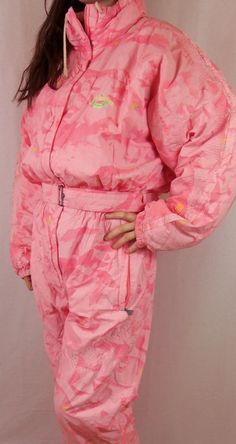 Vintage 80's 90's Women's All In One Ski Suit Luhta UK14 EU40 Made In Portugal | eBay