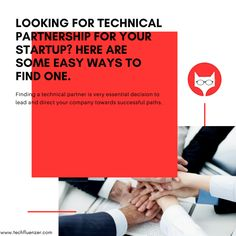 Looking for technical Partnership for your Startup? Here are some easy ways to find one. Read Full Article