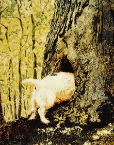 """Jamie Wyeth, """"Squirreling"""""""