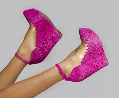 Audrey wedge in Pink Cheetah: From, Jeffrey Campbell