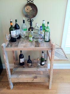 Bar cart made from reclaimed wood. $350.00, via Etsy.