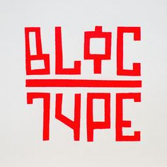 """Bloc Type"" is the work of second year design student Bridget Nielsen, for her xType assignment Winter quarter. It was inspired by some of Neville Brodys' condensed sans serif fonts and her love of Cyrillic font designs."