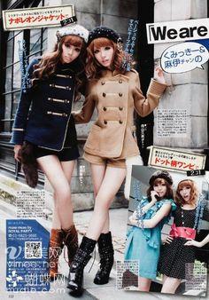 Gyaru Fashion - Love those coats!