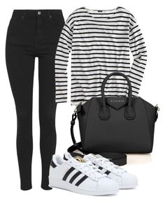 """Untitled #1352"" by katrinad29 ❤ liked on Polyvore featuring Topshop, J.Crew, Givenchy and adidas"