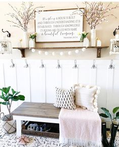 """""""Proverbs / Farmhouse Style / Rustic / Home Decor / Hand painted / Wood sign / Gifts / Living Room Rustic Entryway, Entryway Ideas, Small Entryway Decor, Entryway Rug, Decoration Entree, Interior Minimalista, Decoration Inspiration, Decor Ideas, Rug Ideas"""
